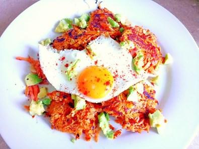 savoury sweet potato rostis Breakfast Dinner Grainfree Lunch