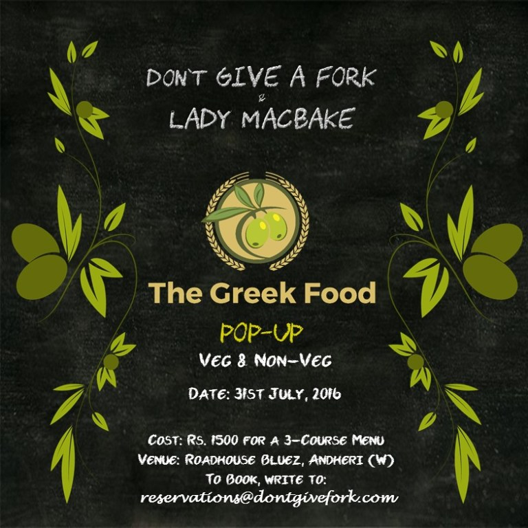 Dont Give a Fork's Greek Food Pop Up Restaurant in Andheri West Mumbai