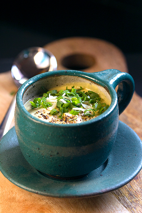 Image for creamy and cheesy keto broccoli soup by Payal Bhuptani from Dont Give A Fork