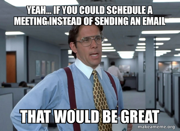 meeting vs. email