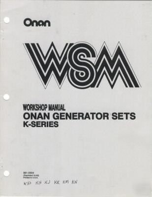 Onan kp kh kj kk km kn workshop genset manual 981-0504