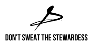 DON'T SWEAT THE STEWARDESS LOGO