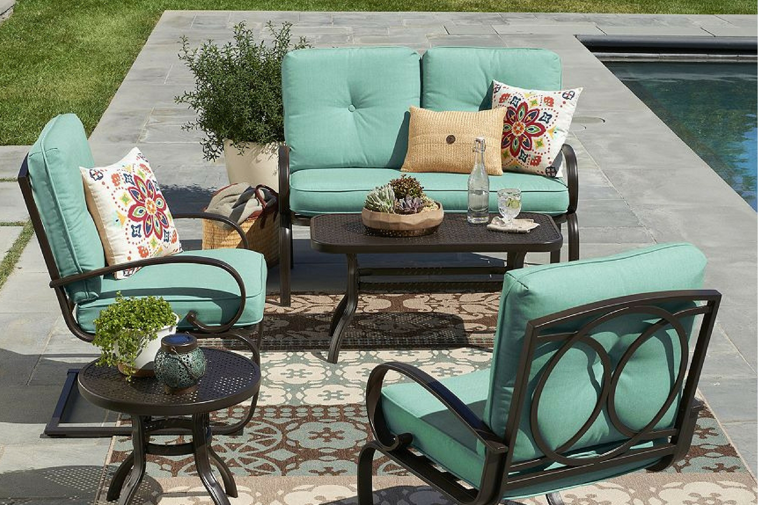 kohls outdoor chair cushions floor protectors is having a big sale on patio furniture right now