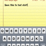 iPod Note-taking