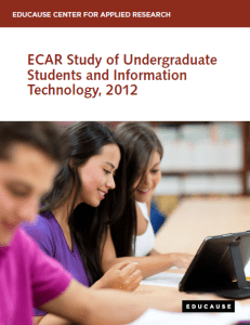 ECAR Study of Undergraduate Students and Information Technology, 2012