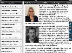 FOTE12: Agenda and speaker bio