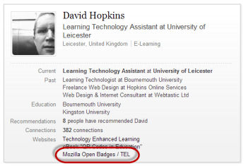 Open Badges and LinkedIn