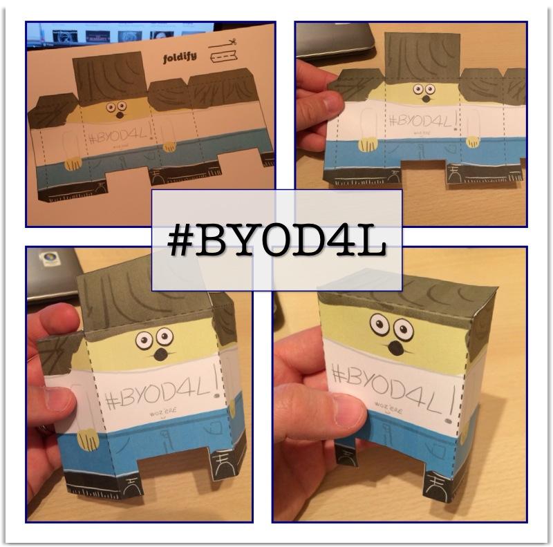 BYOD4L - Foldify Character / @hopkinsdavid