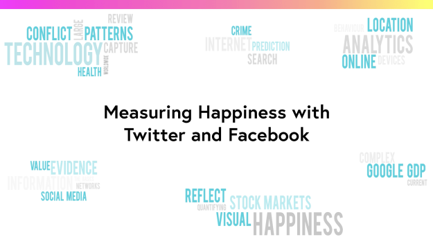 Measuring happiness with Twitter and Facebook