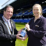 My first award was presented to me at Goodison park by Barclaycard 2005