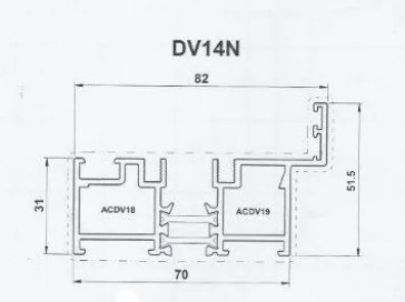 Diagram of a Bi-Fold Standard Threshold