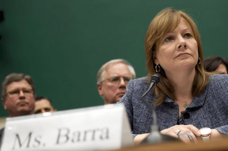 Mary Barra in front of congress.