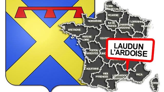 carte Laudun l'Ardoise