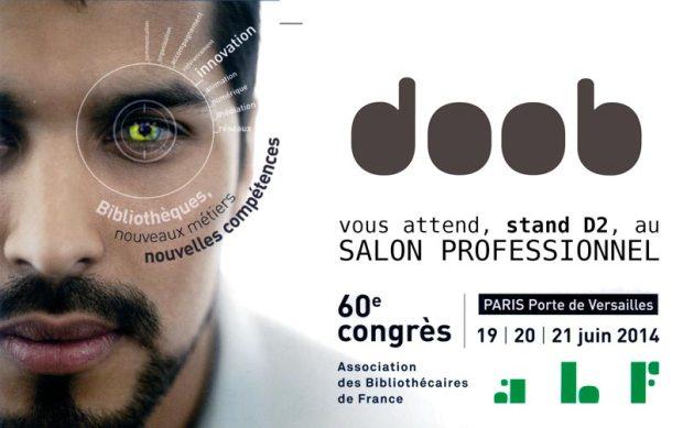 illustration pour Les bornes doob s'affichent au congrès de l'ABF