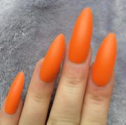 orange matte long stiletto doobys