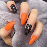 orange matte envy doobys nails
