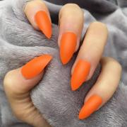 orange matte stiletto doobys