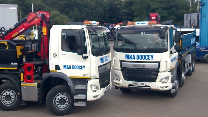 doocey, grab, lorry