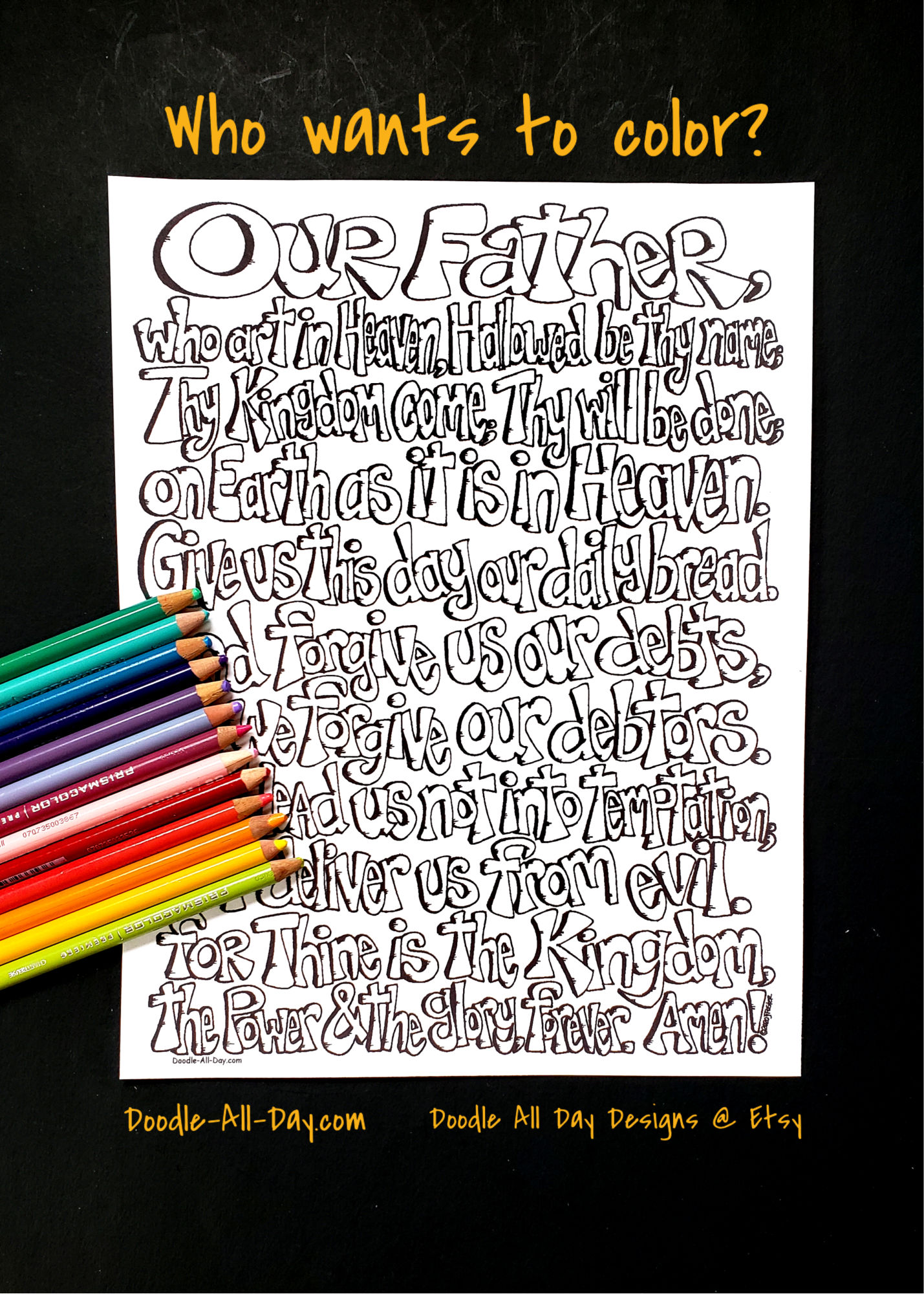 The Lord S Prayer Coloring Sheet