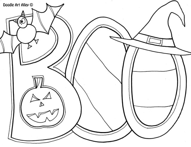 Halloween Coloring Pages - DOODLE ART ALLEY