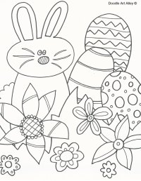 Easter Coloring Pages - Doodle Art Alley
