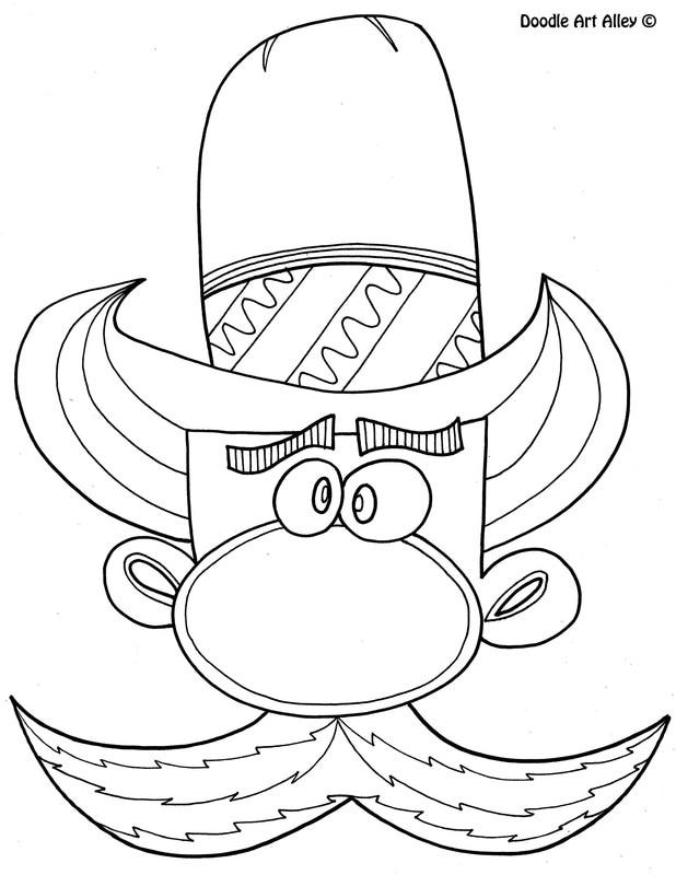 Cowboy Coloring Pages Doodle Art Alley