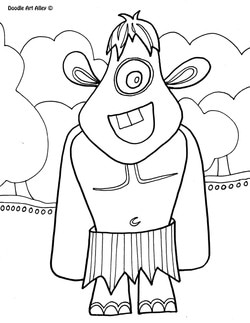 Crazy Mythical Creatures Drawings Sketch Coloring Page
