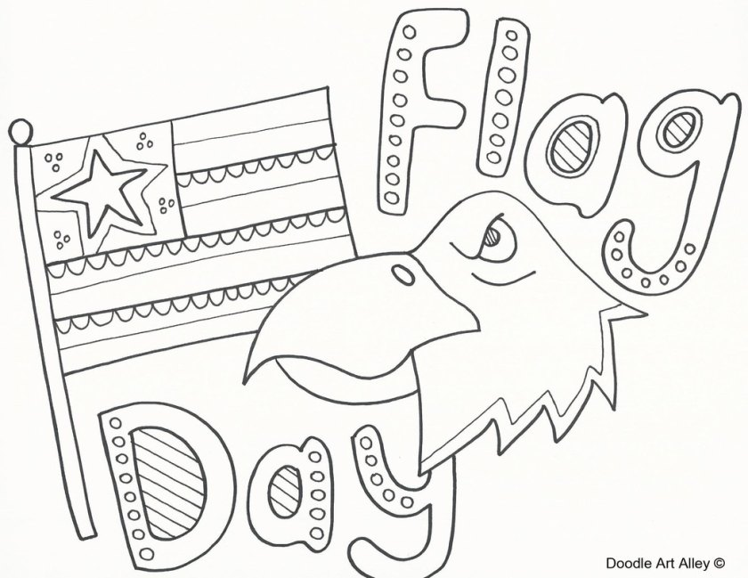 flag day coloring pages  doodle art alley