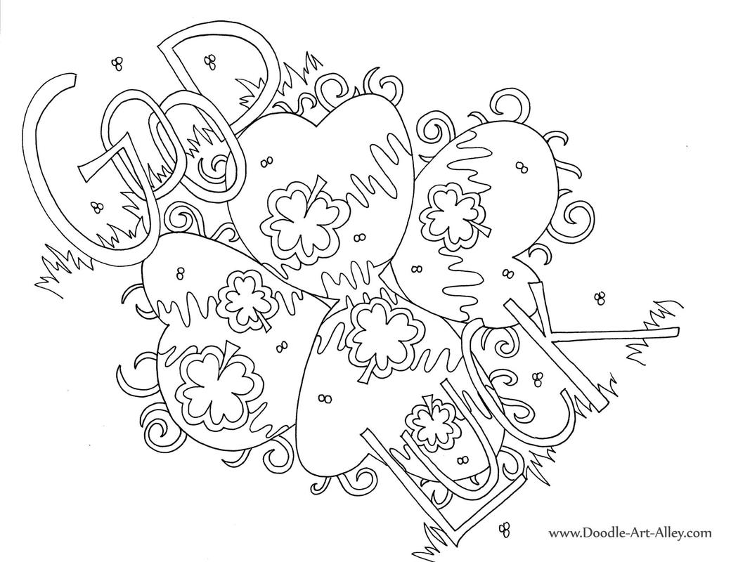 Coloring Page Good Luck Charms Coloring Pages