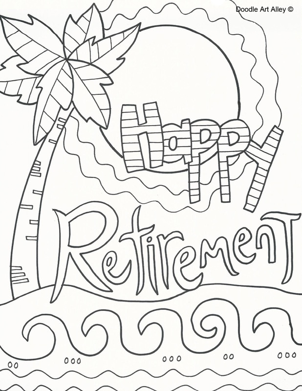 Retirement Pages Coloring Pages