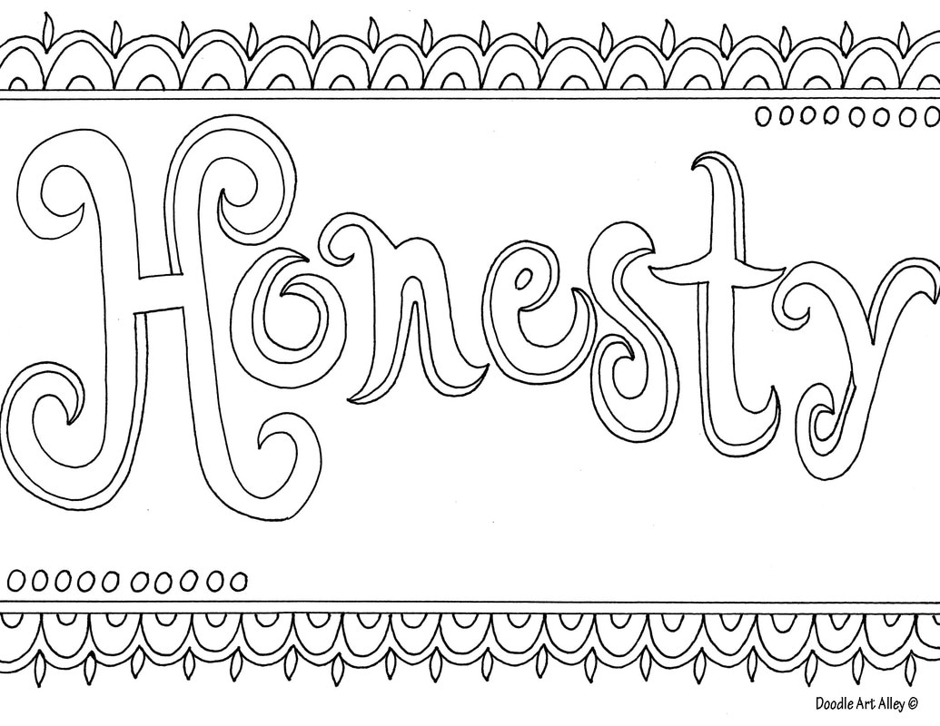 Word Coloring Pages