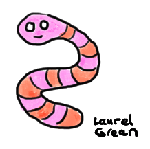 a doodle of a worm