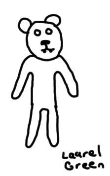a bad drawing of a bear