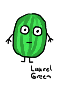a drawing of a watermelon