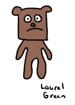a drawing of a sad bear