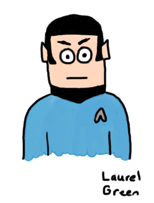 a drawing of spock from star trek