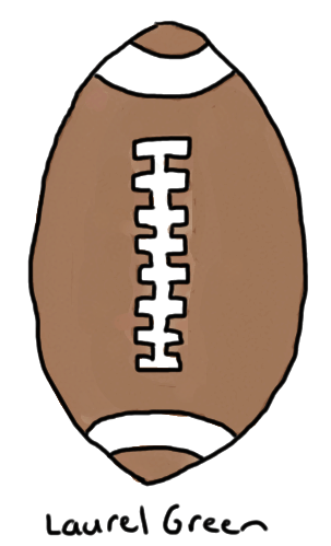 a drawing of a football
