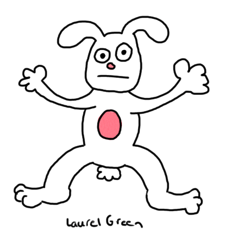 a drawing of a bunny