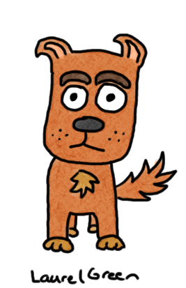 a drawing of a dog that has eyebrows