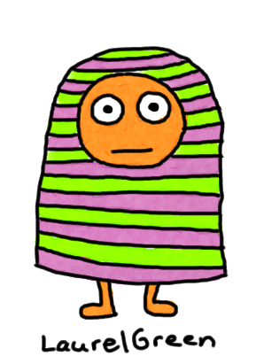 a drawing of a guy covered in stripes