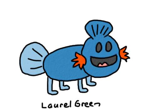 a drawing of a mudkip
