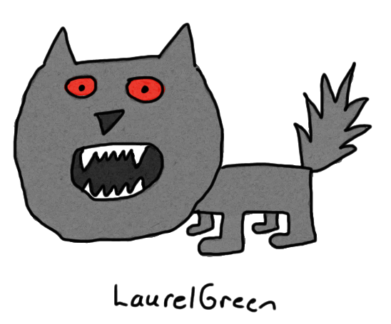 a drawing of a crazy wolf