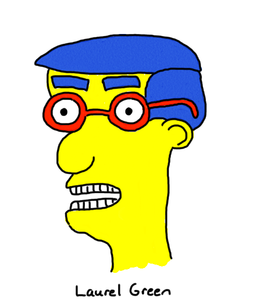 a drawing of milhouse