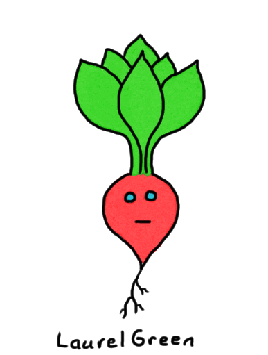 a drawing of an indifferent radish
