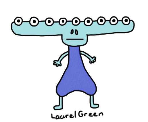 a drawing of a creature with nine eyes