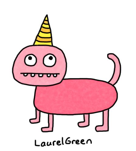 a poorly-drawn unicorn