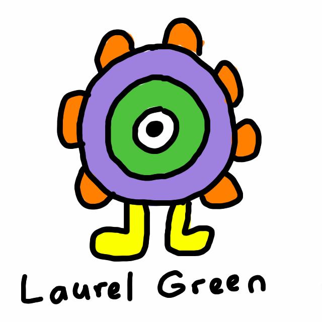 A drawing of an eye critter