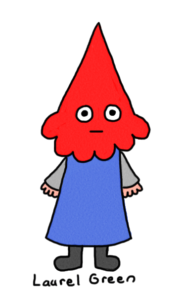 a drawing of a weird gnome