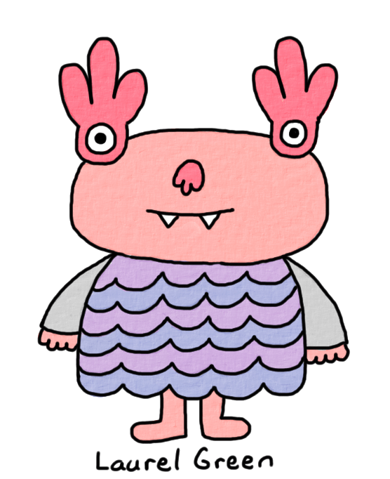 a drawing of a creature with fancy eyes