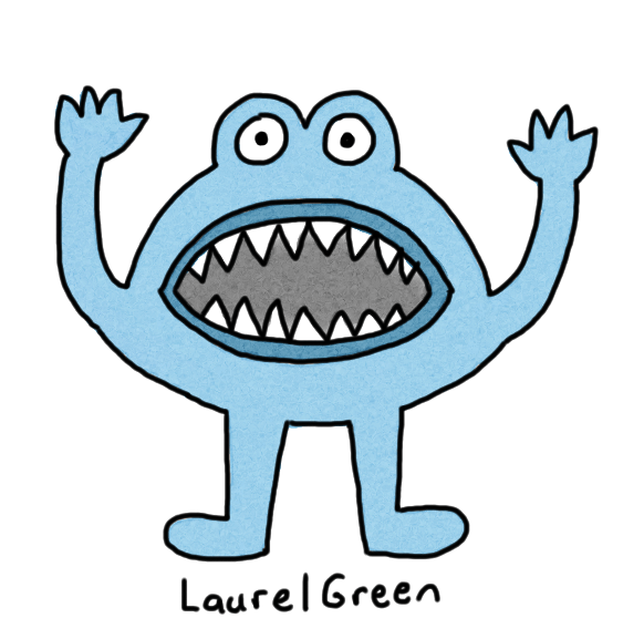 a drawing of an angry toad